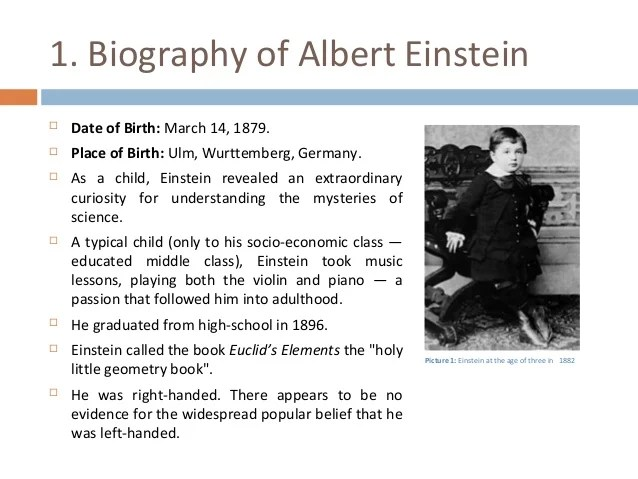 albert einstein essays about his life