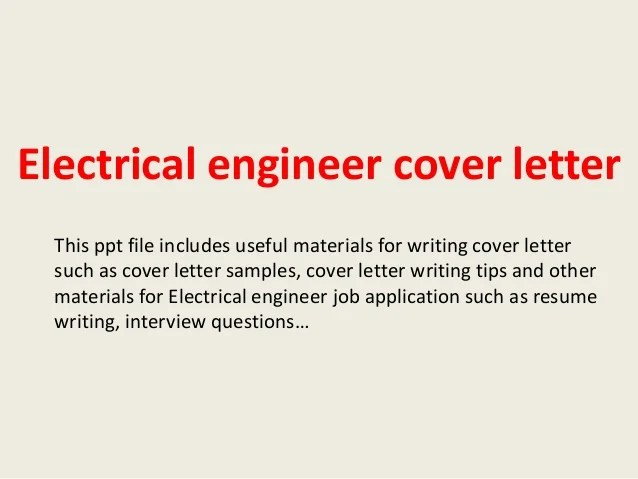 Cia Electrical Engineer Cover Letter