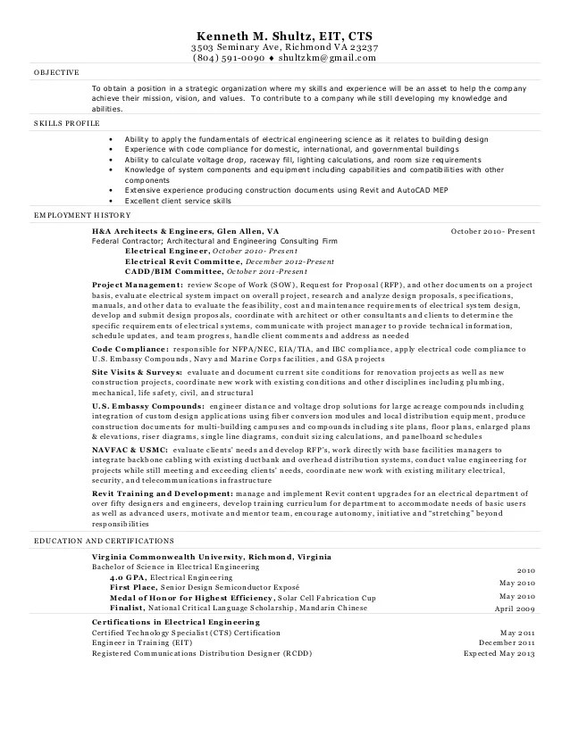 engineer in training resumes - Ozilalmanoof - Eit On Resume