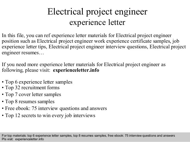 Free Resume Templates » electrical experience certificate format