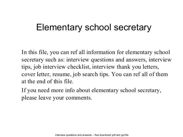 Resume Samples School Secretary – School Secretary Cover Letter
