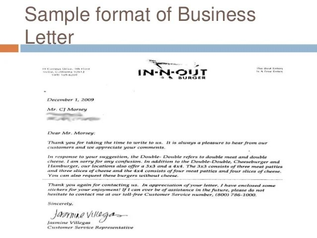 Application Letter Sample Application Letter Format Elements Of Business Letter