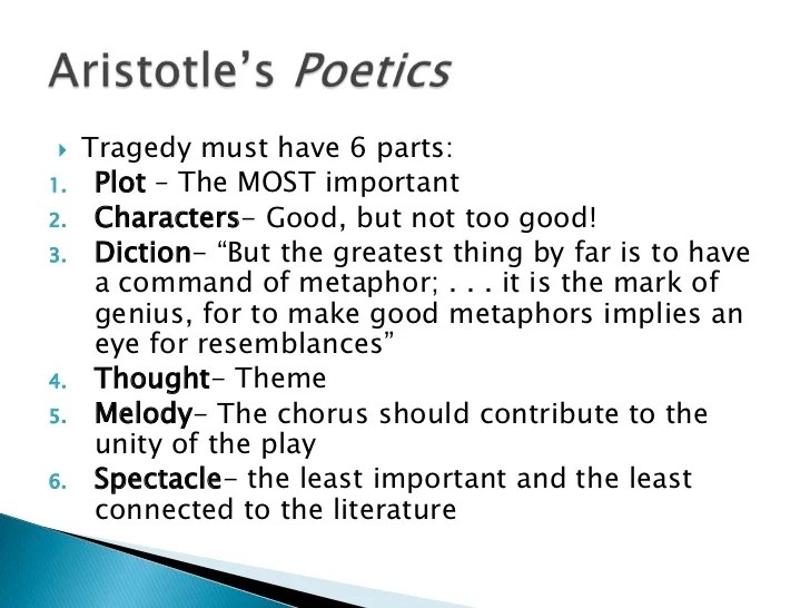 a literary analysis of the guide to a well written tragedy in aristotles poetics