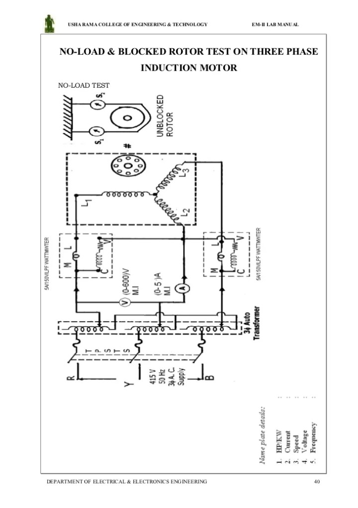 Circuit diagram of load test on 3 phase induction motor load test on three phase induction motor circuit diagram swarovskicordoba Images