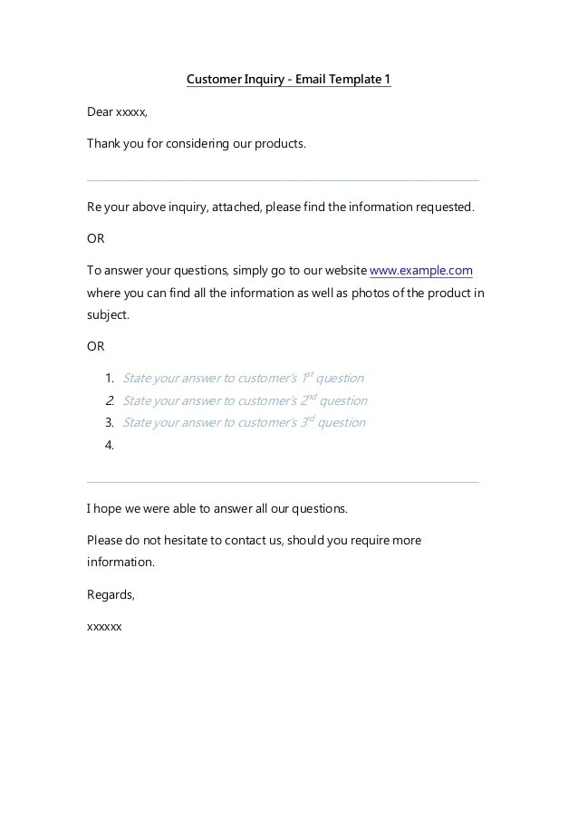 complaint email template - Selol-ink