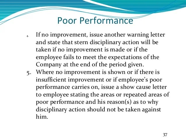 How to write warning letter for example poor performance