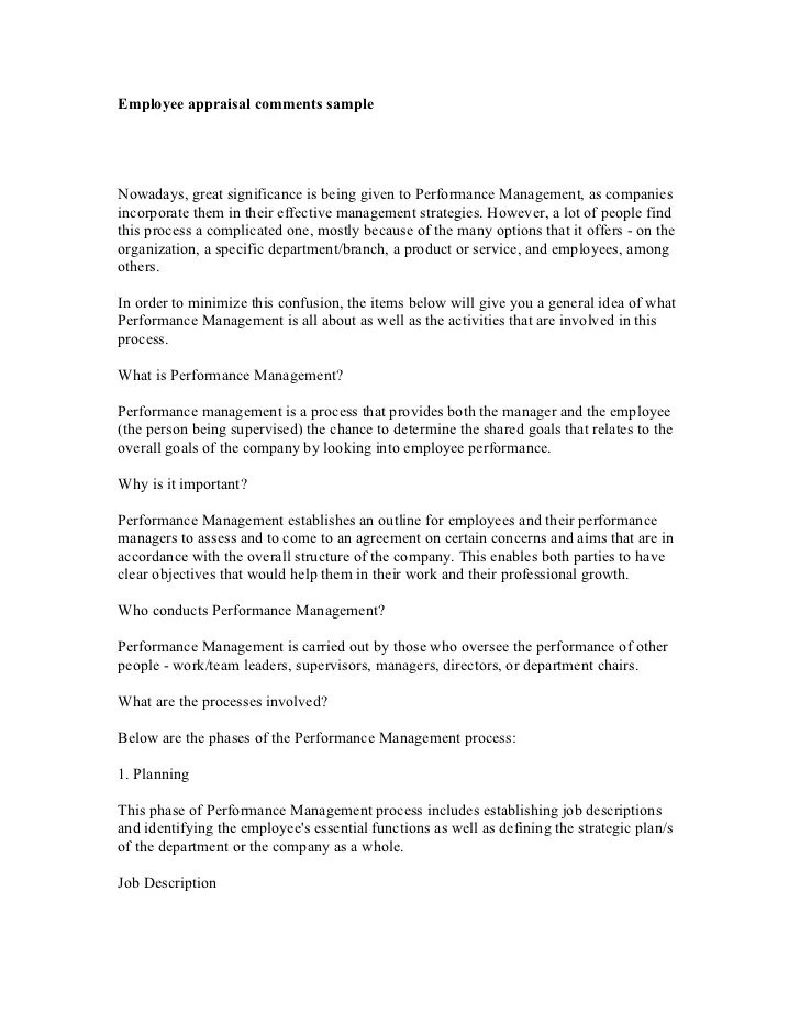 sample employee evaluations comments - offplay.khafre.us