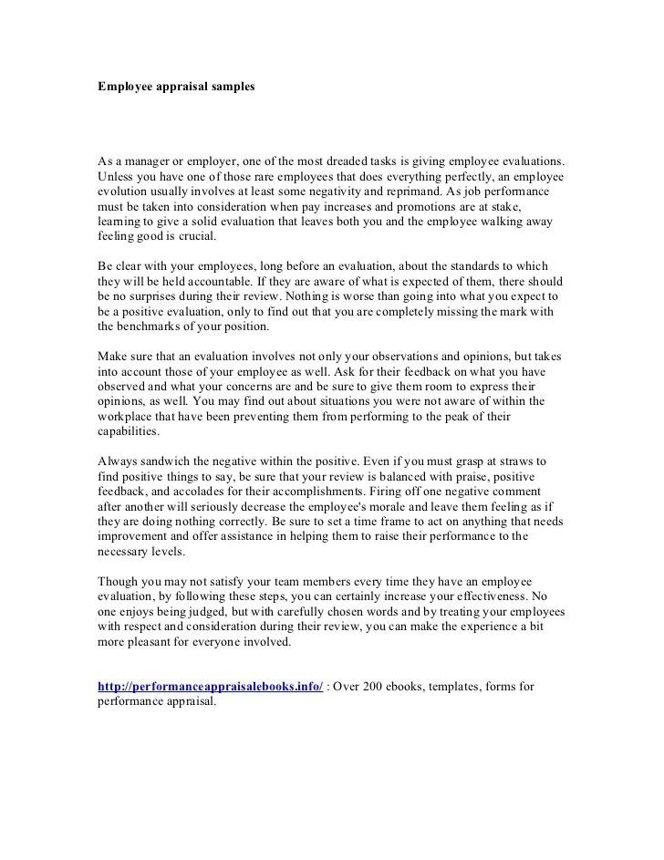 Employee Evaluation Sample Goals   Sample Customer Service Resume