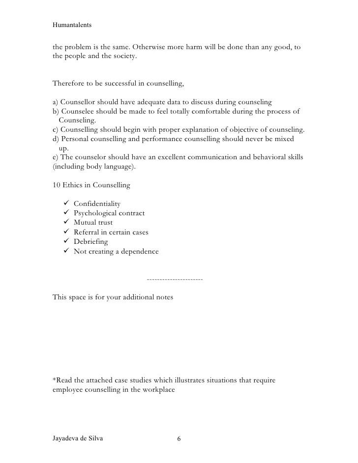 employee counseling form - Peopledavidjoel