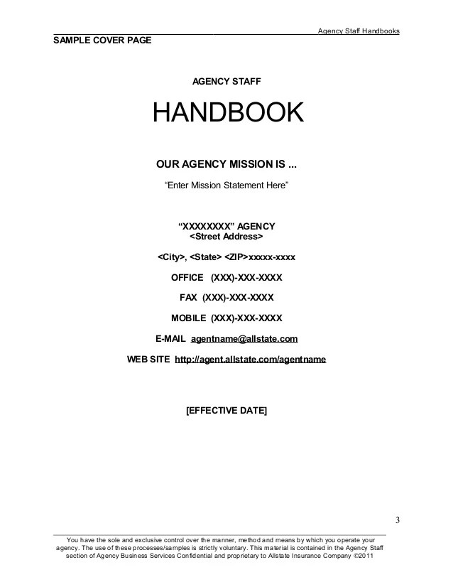 Template Employee Handbook - Eliolera - sample employee manual template