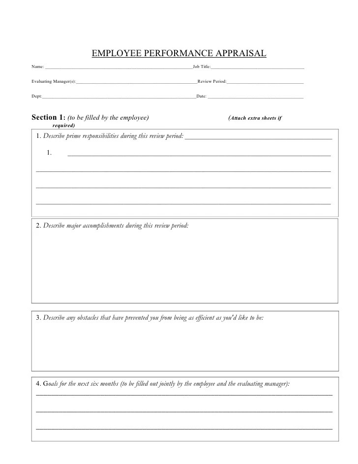 Field Training Officer Evaluation Form – On the Job Training Evaluation Form