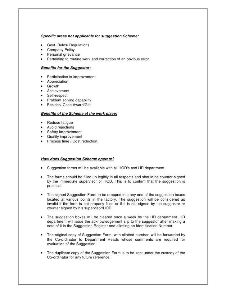 word employee suggestion form template - Josemulinohouse