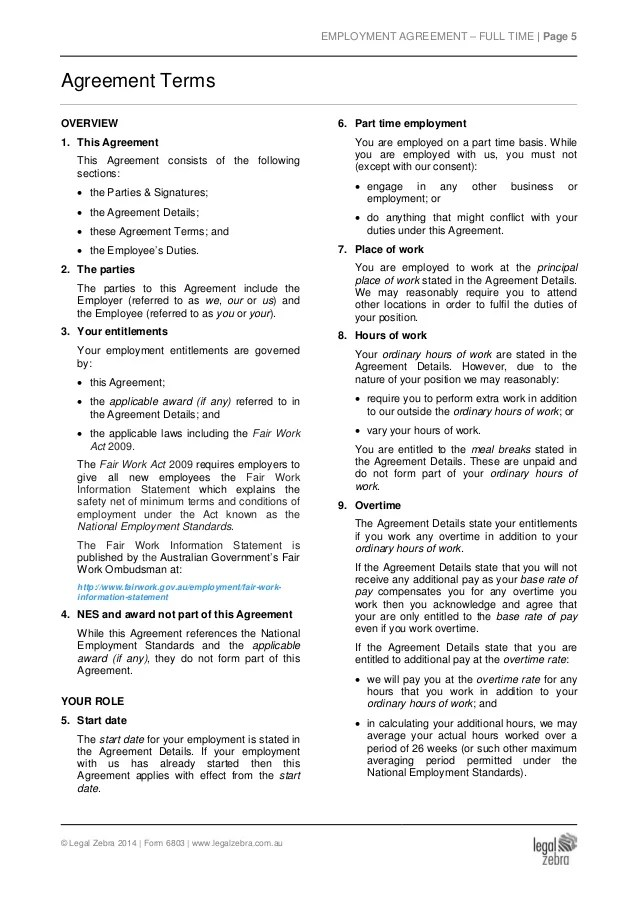 Doc707946 Free Employment Contract Form Free Employee – Free Employment Contract Form
