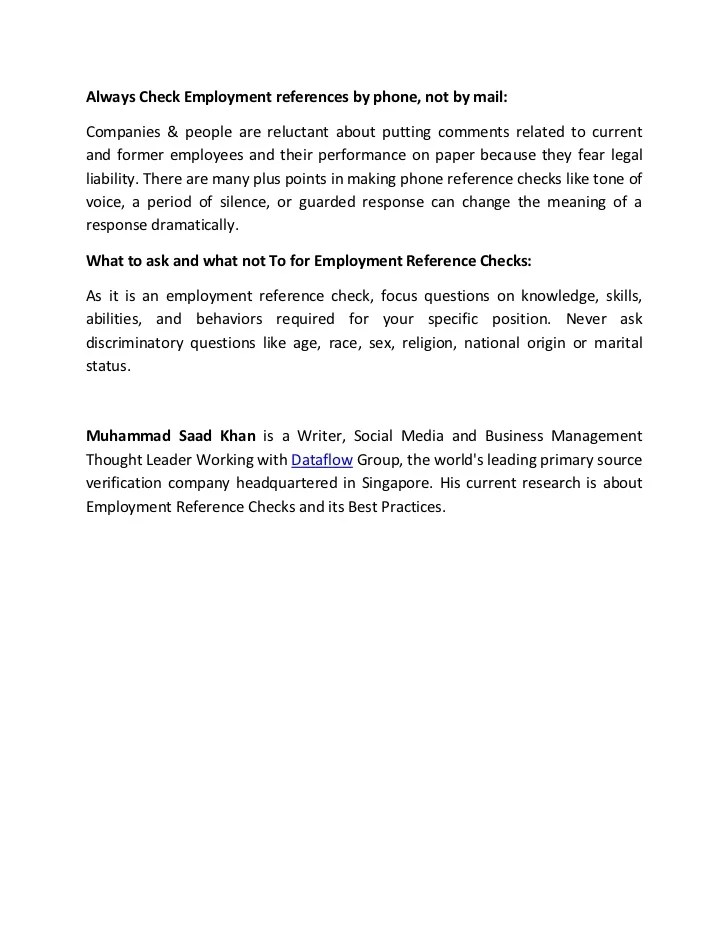 sample letter of reference employment reference letter employee reference template - Reference Checking References Questions Reference Check Form