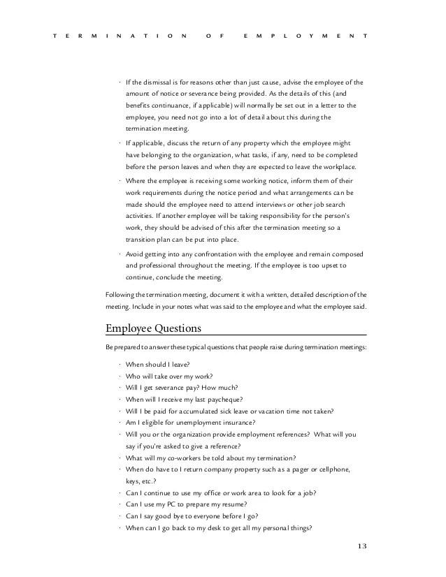 severance letter - Divingthexperience - employment separation letter sample