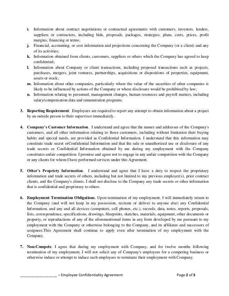 Hr Confidentiality Agreement Template sample confidentiality - contractor confidentiality agreement