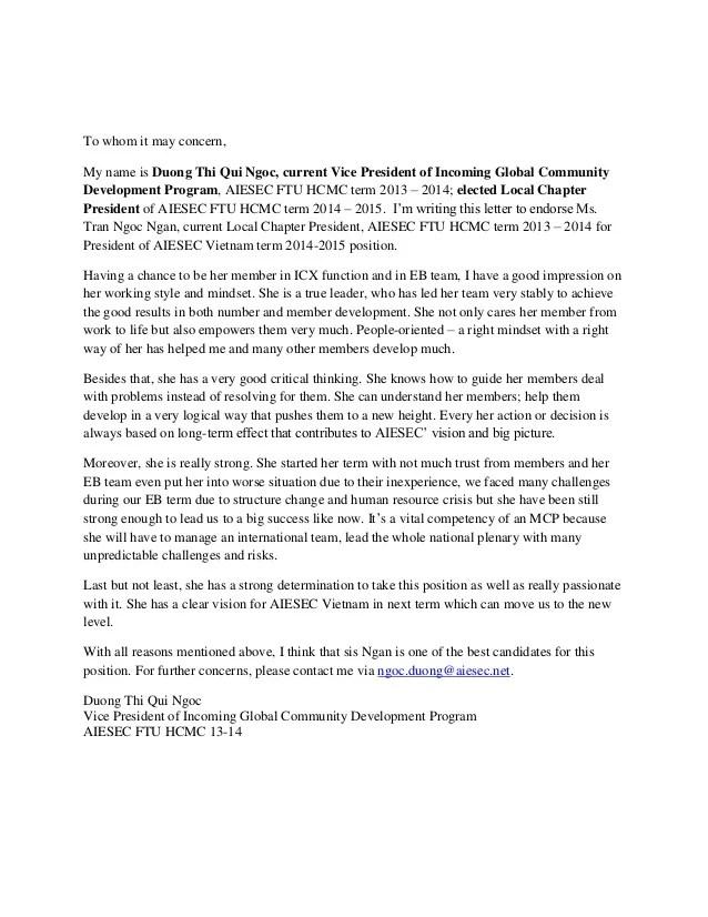 endorsement letter - Josemulinohouse - endorsement letters
