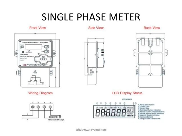 single phase kwh meter connection diagram