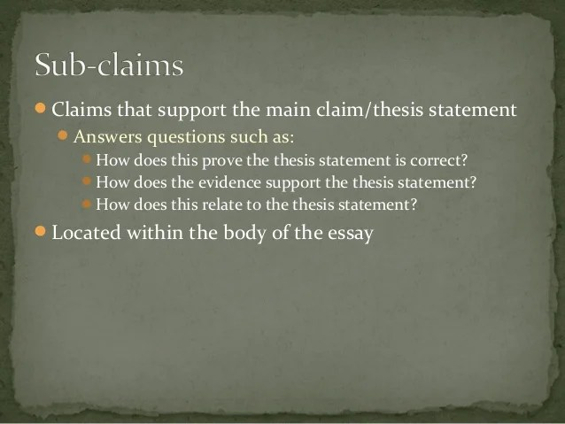 examples of a thesis statement for an essay