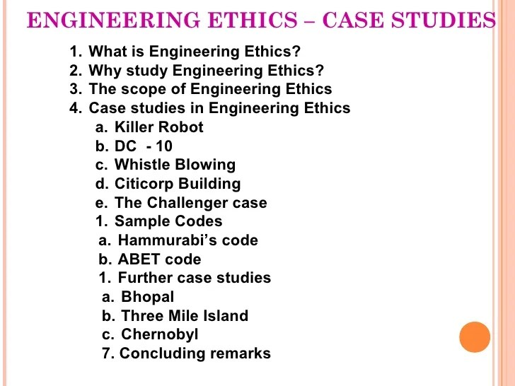 Case Study Collection Ethics Education Library Engineering Ethics And Cases