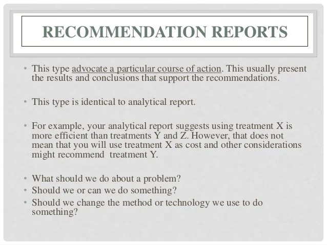 recommendation report template - Minimfagency