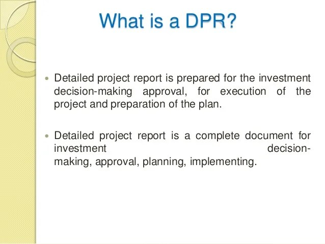 detailed project report ppt - Josemulinohouse