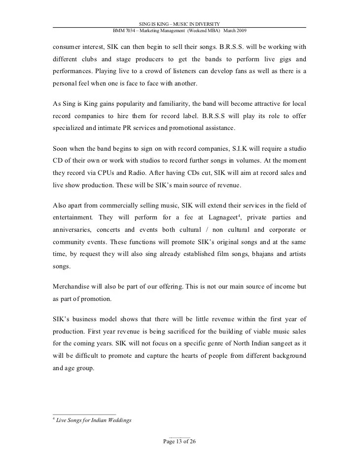 cover letter music industry