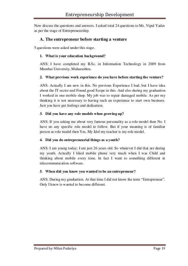 interview questions for entrepreneur - Vatozhub-rural