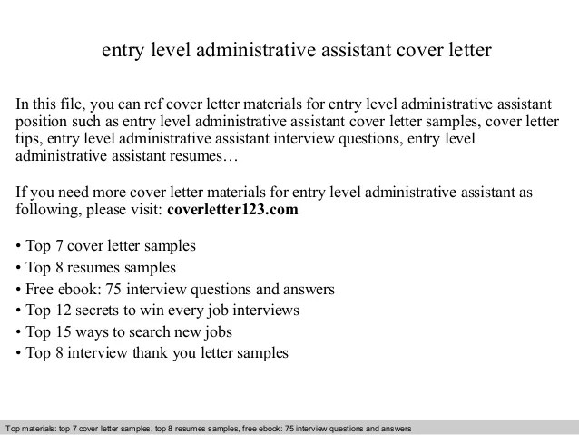 administrative assistant cover letter entry level - Funfpandroid - cover letter for administrative assistant