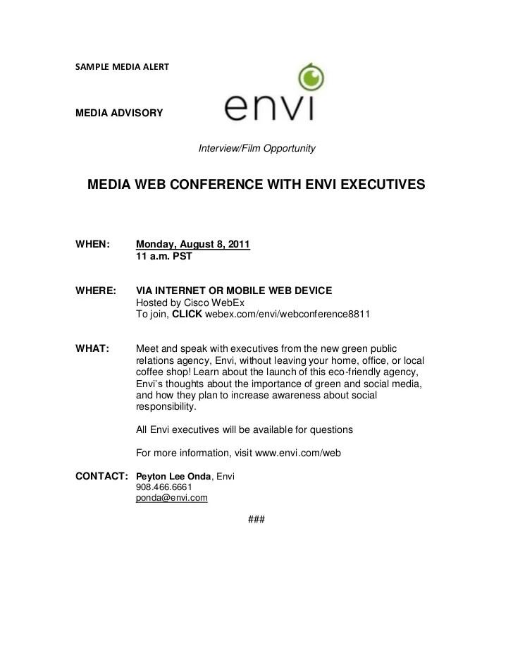 media advisory example