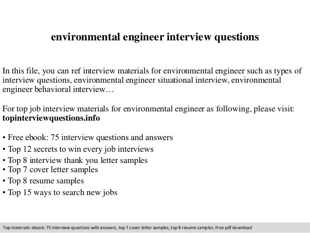 environmental engineer cover letters - Goalgoodwinmetals