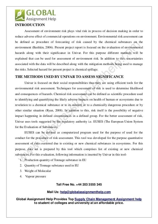 Environmental Risk Assessment Template Eliolera – Sample Threat Assessment