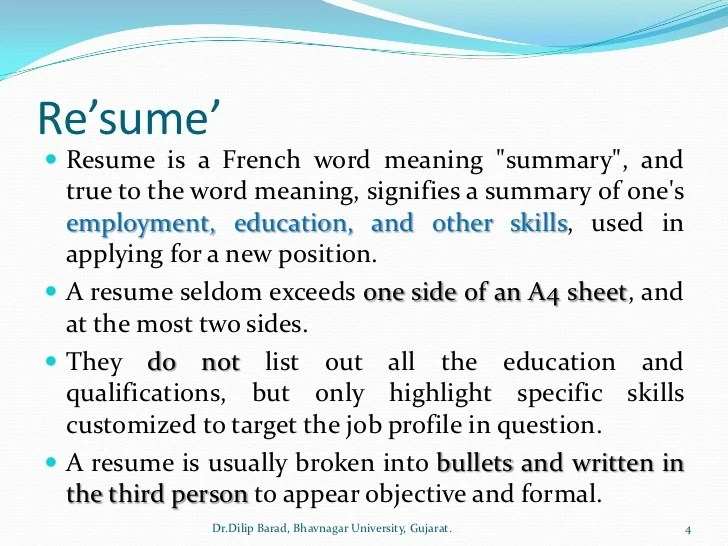 profile summary means in resume