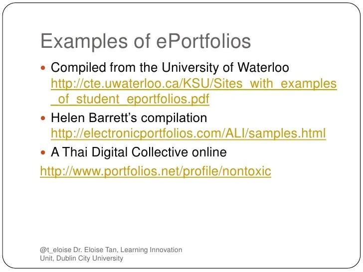 examples eportfolios