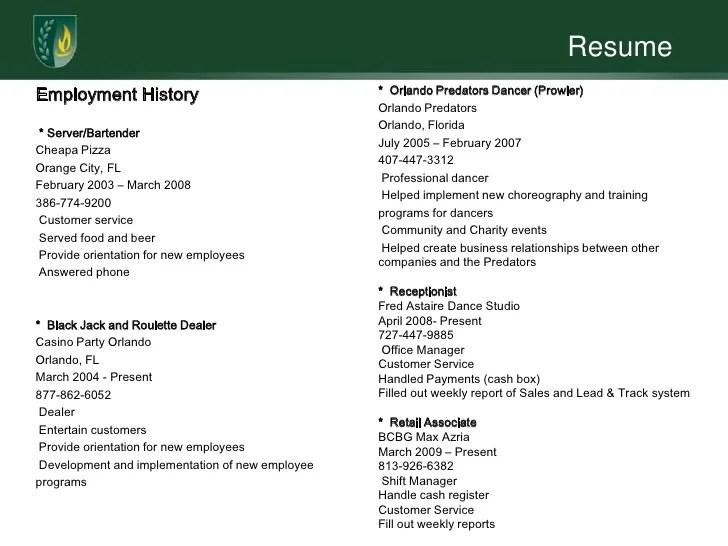 resume proficient