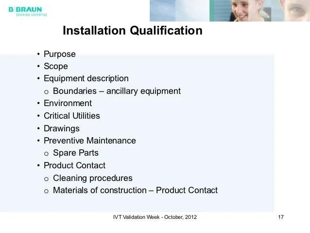 Equipment Qualification