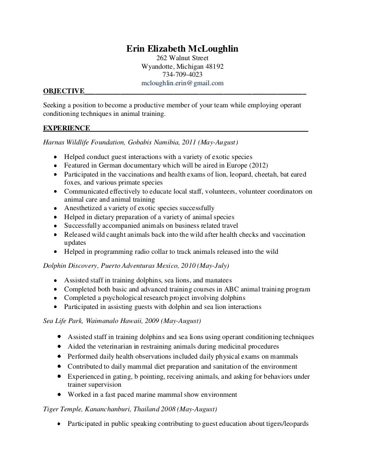 dog trainer resume - Alannoscrapleftbehind