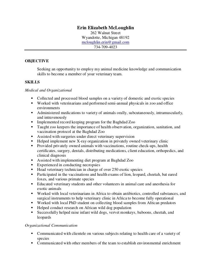 Resume For Senior Quality Assurance Engineer Sample Erin Final Vet Tech Resume