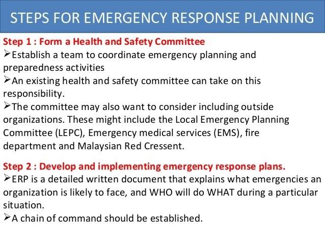 Emergency Management Wikipedia Osha Emergency Response Plan