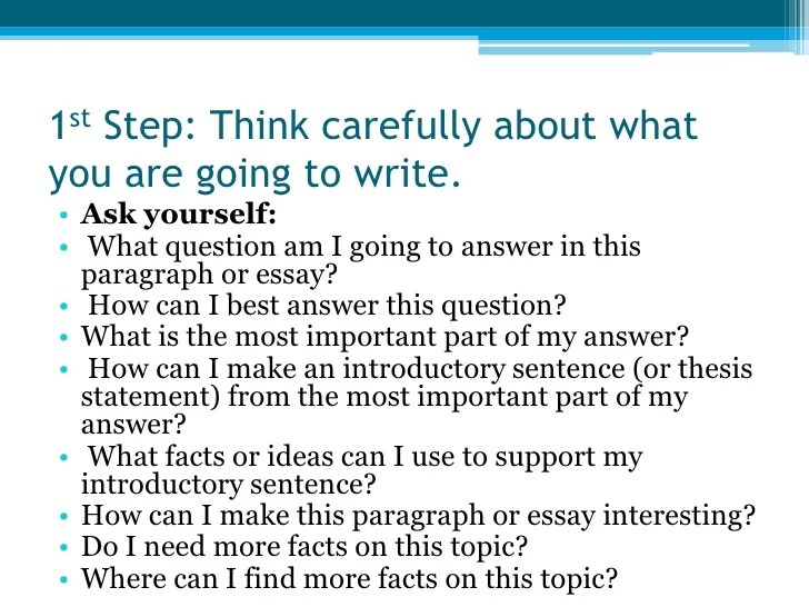 Steps To Writing An Essay Easy Steps To Writing An Essay