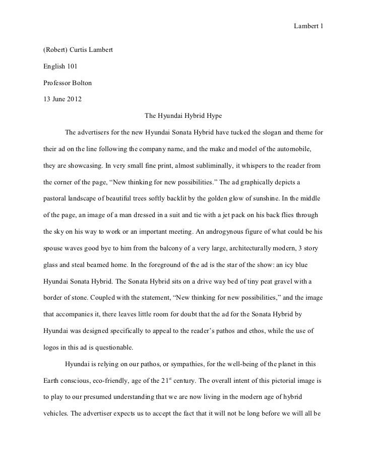 ad analysis essay examples