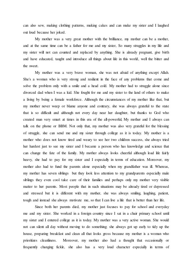 Descriptive Essay About Mother