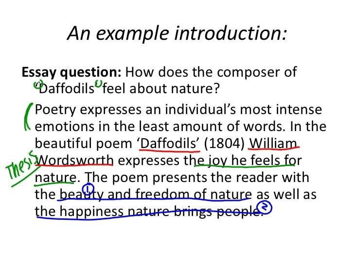 Poem essay introduction