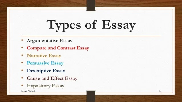 Compare And Contrast Essay Papers Connecting Words For Essays List The Five Types Of  Thesis Example For Compare And Contrast Essay also Persuasive Essay Samples High School Five Types Of Essay Writing  Order Custom Essay Thesis Statements For Essays