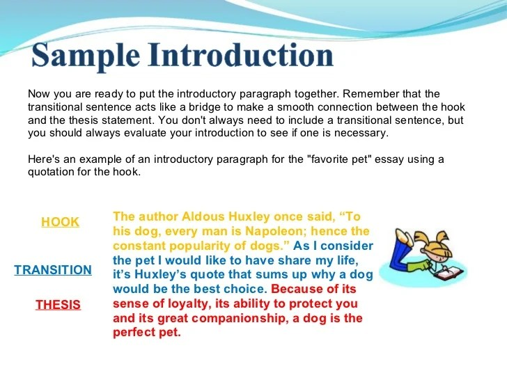 how to make an introduction for an essay - Goalgoodwinmetals