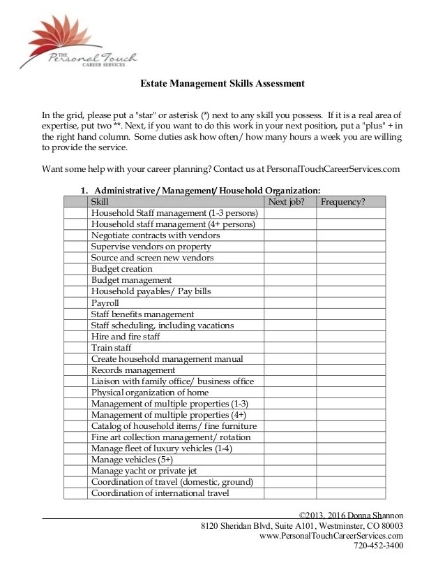 management skills resumes