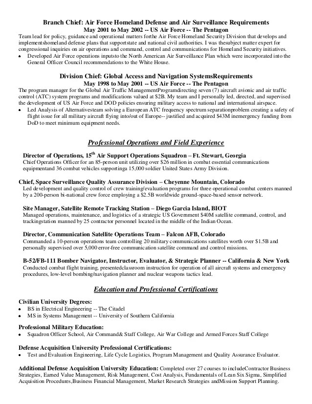 Air Force Crew Chief Resume - twnctry