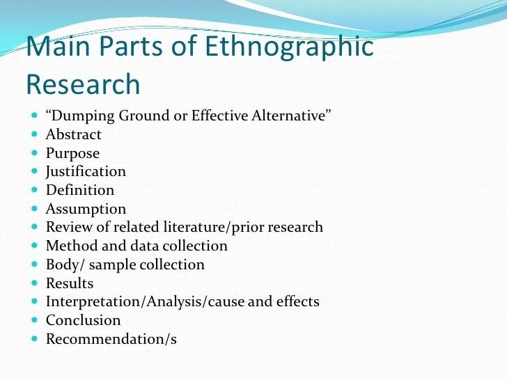 Sample Proposal Eku Ethnographic Research