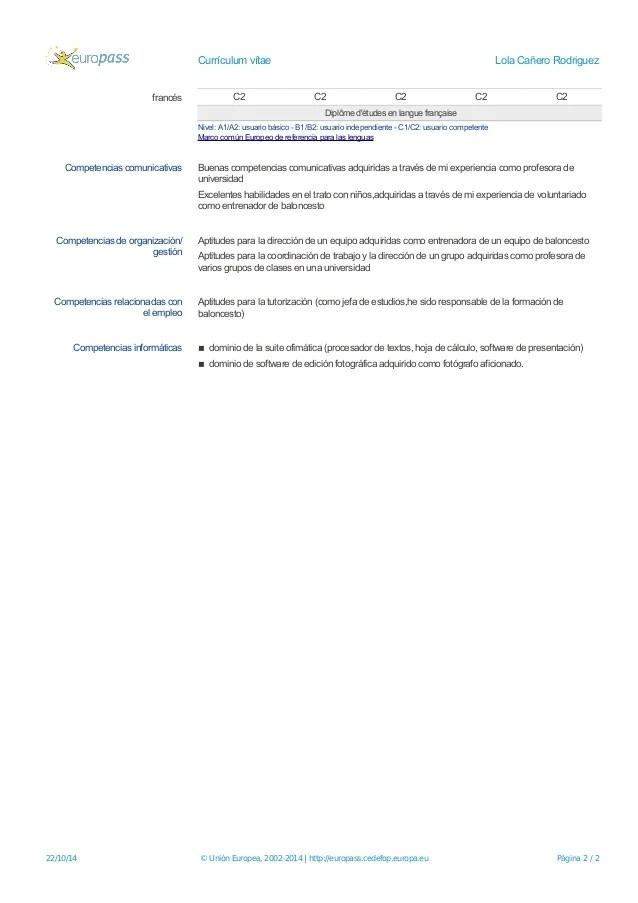 cv europass frances