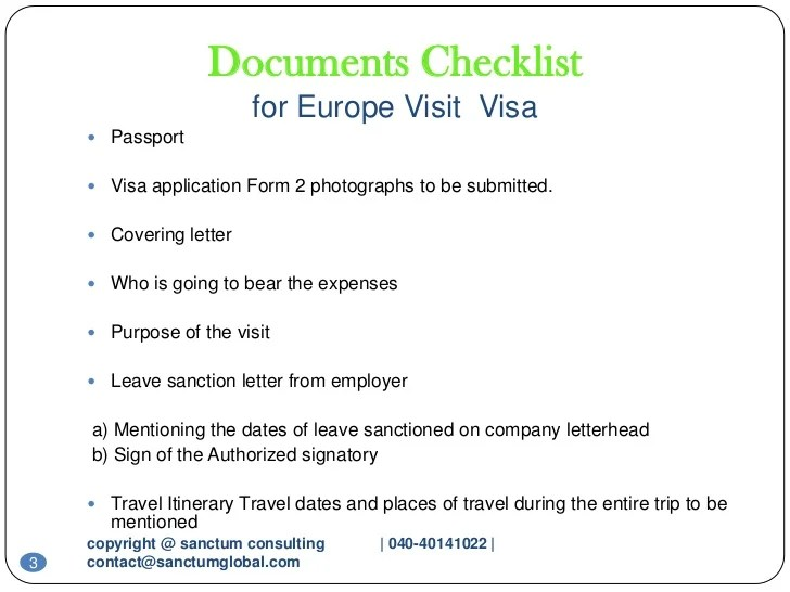Schengen Visa Sample Cover Letter Kristine Camins Europe Visit Visa Sanctum Consulting